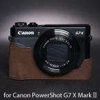 TP Original ティーピー オリジナル Leather Camera Body Case レザーケース for Canon PowerShot G7 X MarkII おしゃれ 本革 カメラケース Dark Brown