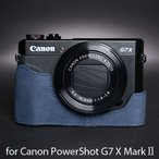 TP Original Leather Camera Body Case レザーケース for Canon PowerShot G7 X MarkII おしゃれ 本革 カメラケース Navy