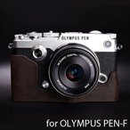 TP Original ティーピー オリジナル Leather Camera Body Case for OLYMPUS PEN-F おしゃれ 本革 カメラケース Dark Brown(ダークブラウン)