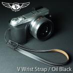 『クロネコDM便OK!』 TP Original V Leather Camera Wrist Strap V型 本革カメラリストストラップ(ヒモタイプ) Oil Black(オイル ブラック)