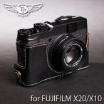 TP Original ティーピー オリジナル Leather Camera Body Case for FUJIFILM X20/X10 おしゃれ 本革 カメラケース Oil Black(オイル ブラック)