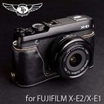 TP Original ティーピー オリジナル Leather Camera Body Case for FUJIFILM X-E2/X-E1 おしゃれ 本革 カメラケース Oil Black(オイル ブラック)