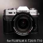 TP Original ティーピー オリジナル Leather Camera Body Case レザーケース for FUJIFILM X-T20/X-T10 おしゃれ 本革 カメラケース Black(ブラック)