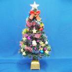 ショッピングクリスマスツリー クリスマスツリー 90cmファイバーツリーセット14 LED付き