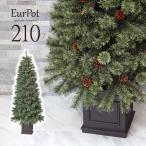 クリスマスツリー 210cm おしゃれ 北欧 高級 ドイツトウヒツリー オーナメントセット なし ツリー ヌードツリー スリム ornament Xmas tree Eurpot