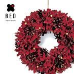 クリスマスツリー クリスマス リース 北欧 おしゃれ ボール 35cm 玄関 RED
