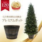 ショッピングクリスマス クリスマスツリー プレミアムウッドベースツリー120cmポットツリー ヌードツリー