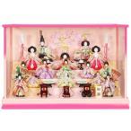 雛人形 15人ケース入り 春のかおり白/パールピンク塗り ピンクのお雛様 sb-10-115 ケース入 ケース飾