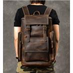 リュックサック 本革 メンズ 大容量 旅行鞄 16インチPC対応 牛革 バックパック レザー ディバッグ 通勤通学 林間 登山鞄 紳士用 リュック