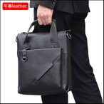 トートバッグ 本革 メンズ レザー 通勤鞄 A4対応 男女兼用 ショルダーバッグ 2way ビジネスバッグ iPad収納 ブラック
