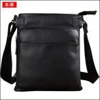 ショッピングメッセンジャー ショルダーバッグ メンズ 本革 メッセンジャーバッグ 通勤鞄 レザー ブラック 黒色 アウトドア iPad対応