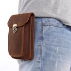 ウエストバッグ メンズ 本革 ウエストポーチ 二色 ベルトバッグ ベルトポーチ 携帯、財布収納 スマホ収納 Huawei アウトドア スマホケース
