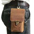 ショッピングウエストポーチ ウエストバッグ メンズ 本革 ウエストポーチ ブラウン ベルトバッグ 小型 革バッグ 携帯、財布収納 財布