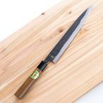 自宅で本格的な刺身を食べたいあなたに!力も要らず、引くだけで切れる刺身包丁 「忠義 黒打両刃柳刃包丁」 協同組合土佐刃物流通センター・高知県