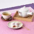 和菓子 ほんのり甘く、優雅な見た目 藤にちなんで創られた か津ら ふぢ餅 送料無料 ポイント消化