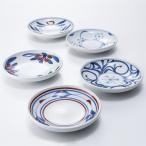 4.6寸切立丸皿 同絵柄5枚セット 梅山窯 愛媛県 砥部焼特有の絵柄が美しく映える、使い勝手のよい丸皿