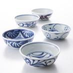 3.7寸平鉢 同絵柄5枚セット 梅山窯 愛媛県 酢の物やおひたしなどに最適。砥部焼では珍しい軽量・薄手に仕上げた小鉢