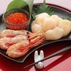北海道 お取り寄せ 海鮮 セット ボタンエビ ほたて 各500g いくら醤油漬 送料無料 ポイント消化