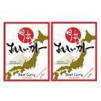 日本のおいしいカレー 2個 200g curryking ビーフカレー レトルトカレー ご当地カレー 一人前 夜食 惣菜 ポスト投函便