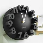 [MEIDI-CLOCK] 立体 3D WALL CLOCK ナンバー ラウンド ウォールクロック 掛け時計 北欧デザイン アート インテリア おしゃれ 壁掛け [ブラック]
