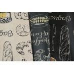 綿麻キャンバス ラミネート(ツヤ消) 鉛筆タッチブレックファースト f5ap55303la-1
