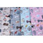 ナイロンオックス Cat&Dog柄[f5sg150]