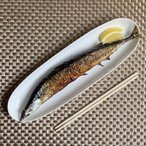 長皿 オードブル皿  12号 楕円形  さんま皿 寿司皿 白磁 おしゃれ 大きい レンジOK 深い