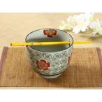 箸置き付き茶碗  赤い椿 軽い 丈夫 花柄 シンプル 茶碗 どんぶり まんぷく 子ども ご飯 ライスボウル