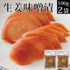 ご飯のお供 お取り寄せグルメ 漬物 生姜みそ漬 120g×2袋 しょうが 味噌漬け ポイント消化 送料無 食品 お試し