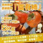 ≪送料無料≫ 奈良県西吉野産 農家直売&直送の富有柿「ご家庭用」5Kg(18?22個入り)サイズ不揃・傷ありですがお得です!