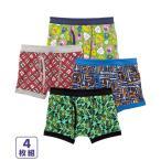 パンツ ボクサー 男の子 キッズ 4枚組 子供服 肌着 ボトム 身長100〜150cm ニッセン