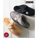 大きいサイズ レディース MOZ(モズ)ムートン調スリッパ ワイズ4E 冬 サンダル あったか 暖かい 靴 ファッション デザイン 23.0〜23.5/24.0〜24.5cm ニッセン