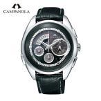 カンパノラ CAMPANOLA メンズ 腕時計 エコ・ドライブ コンプリケーション BZ0030-08E 黒橡 くろつるばみ