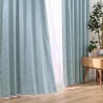 遮光1級・遮熱カーテン(ルトロ ターコイズブルー 100X110X2) ニトリ 『1年保証』 『玄関先迄納品』