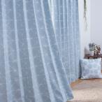 裏地付き遮光2級・遮熱カーテン(クロス ターコイズブルー 100X200X2) ニトリ 『玄関先迄納品』