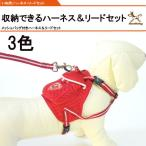 メール便送料無料 犬用メッシュバッグ付きハーネスリードセット