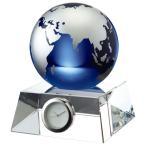 名入れ グラスワークス 地球儀 卓上時計 ・創立記念・周年記念・竣工記念・新築記念・永年勤続・昇進御祝・ゴルフコンペ・・・に
