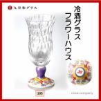 九谷和ガラス 冷酒グラス フラワーハウス RG-105格子