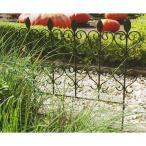 ガーデンフェンス ハート -アンティークブラック- アイアンフェンス (おしゃれ アイアン アンティーク ミニ 仕切り ガーデニング 柵)