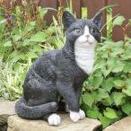 ショッピングオーナメント 八割れネコのガーデンオーナメント (置物 オーナメント 庭 かわいい 猫 動物 オブジェ ガーデニング 飾り)