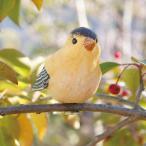 ショッピングオーナメント 小鳥クリップガーデンオーナメント -黄- (置物 オーナメント 庭 かわいい 鳥 野鳥 動物 オブジェ ガーデニング 飾り)