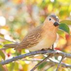 ショッピングオーナメント 小鳥クリップガーデンオーナメント -オレンジ-  鳥 置物 オーナメント 庭 かわいい 動物