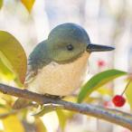小鳥クリップガーデンオーナメント -緑- (置物 オーナメント 庭 かわいい 鳥 野鳥 動物 オブジェ ガーデニング 飾り)