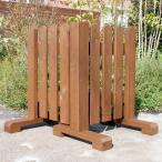 ピケットフェンス コーナー型  −ブラウン− (ガーデンフェンス 手作り ウッドフェンス 庭 トレリス 仕切り 木製 ガーデン)熊本地震10円募金対象