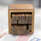 ハングル 韓国語 スタンプ『アンティーク ゴシック体 ハングルスタンプ』 24PS +木のケース入り(作りが雑です)