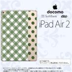 ショッピングAIR iPad Air 2 ケース カバー アイパッド エアー 2 チェック・ドット 白×緑 nk-ipadair2-1523