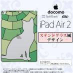 ショッピングAIR iPad Air 2 スマホケース カバー アイパッド エアー 2 猫A グリーン ステンドグラス風 nk-ipadair2-sg35
