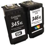 BC-345XL BC-346XL対応リサイクルインク ブラック1個+カラー1個 合計2個セット 残量表示OK キャノン