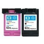 ■激安!!■送料無料!!■HP63XL 顔料ブラック+3色カラーの2個セット 増量版リサイクルインク ENVY4520 Officejet4650対応 F6U64AA/F6U63AA