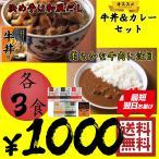 【ネコポス】牛丼の具 ビーフカレー 中辛 セット 各3食 ポッキリ 送料無料 セール ポイント消化 吉野家 松屋 CoCo壱番屋 の商品ではありません